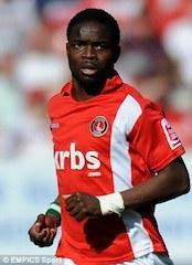 Sam Sodje in Charlton Athletic colours