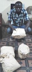 akpaida kareem ajayi with the parcels of meth