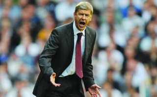 Wenger: rallies the Gunners against Liverpool