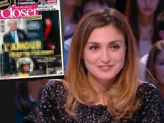 10 January edition of Closer magazine and julie Gayet