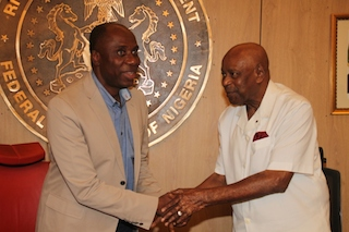 David West, right, with Governor Amaechi