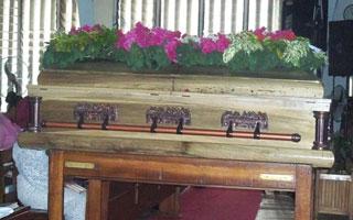 Iyetade's coffin