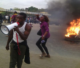 LASU Students on the rampage