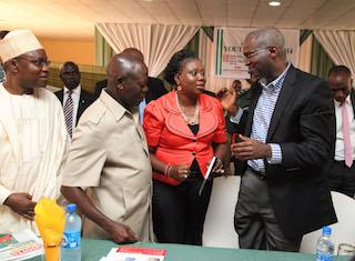 Oshiomhole, Toyosi and fashola at the youth summit