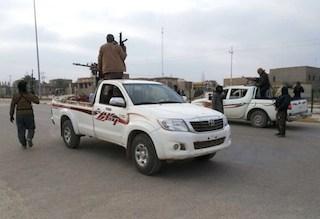 Armed men in the Sunni muslim city of Ramadi