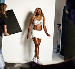 Serena shows her curves
