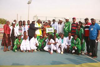 Team Nigeria take a  group photo  at AJTC. Photo Femi Ipaye