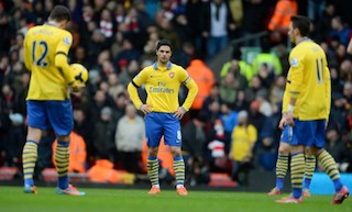 Arsenal Gunners- Outgunned by Reds