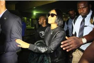 Kelly Rowland arrives Lagos