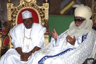 Jonathan with Emir of Kano