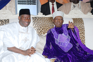 Jonathan with the Ooni of Ife