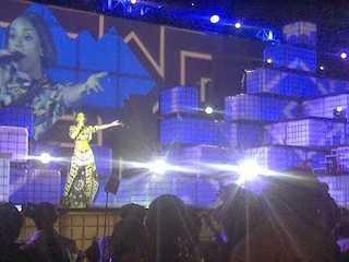 Kelly Rowland performing Saturday night