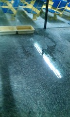 Another view of the leaking airport
