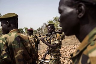 SPLA  government soldiers in Nyang, Yirol East  county