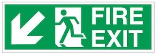standard fir exit sign