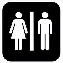 Standard toilet symbols