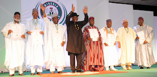 Jonathan with the others heads of state