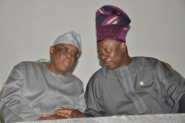 Amosun and Osoba in a meeting