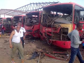 Scene of bomb blast at Nyanya Bus Park copy