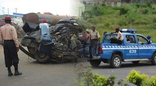 In the file: Federal Road Safety Officers at work following an accident