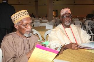 Ebenezer B. Osoba (L) and Segun Osoba