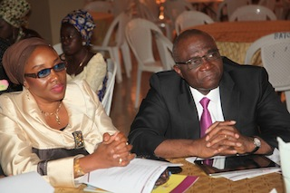 Managing Director of The News Magazine/PM News paper Mr Bayo  Onanuga and his wife, Toyin