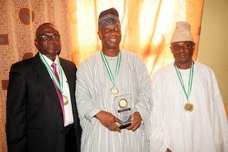 L-R: Mr bayo Onanuga, Architect Ademola Odutola and Biodun Onanuga