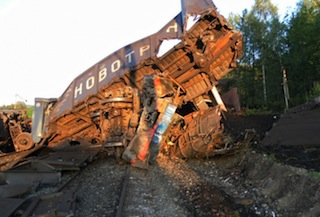 In the file: Collision of freight trains in Chelyabinsk region Courtesy: russiaprofile.org
