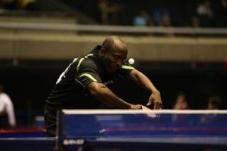 Segun Toriola at 2014 World Team Table Tennis Championship in Japan