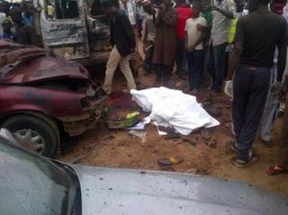 bomb scene in Kaduna