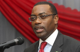 Nigeria's Agriculture Minister Akinwunmi Adesina speaks at a conference on agriculture in Nigeria's capital Abuja