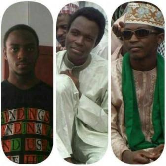 l-r, Mahmood, Hamid, Ahmad: sons of El-Zakzaky killed by Nigerian soldiers