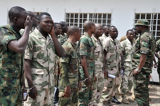 File Photo: Some Nigerian soldiers accused of mutiny