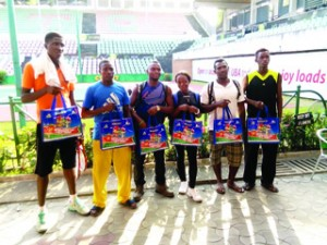 •Some of the players after signing-in for the 14th Governor's Cup Lagos Tennis Invitational Championship which begins today at  the Lagos Lawn Tennis Club, Onikan