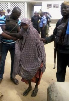 FILE PHOTO: Police in custody of a female suicide bomber identified as Zahra'u Babangida