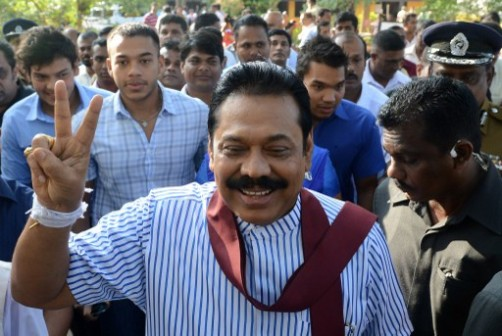 Mahinda Rajapakse: beaten by opposition candidate