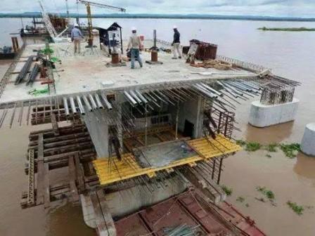 Niger Bridge so far: less than 50 metres covered