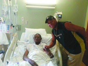 •Agbonavbare (left)on sick bed at a Tampa hospital in Florida, USA.