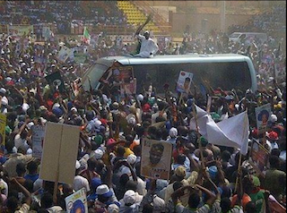 Buhari arrives Ekiti state