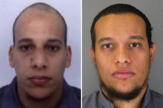 Said Kouachi, 34,, right linked with Mutallab