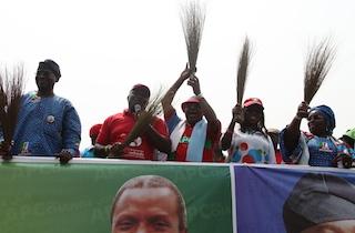 Fashola, Ambode, at the Apapa rally