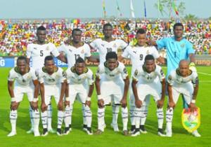 •Ghana's Black Stars, Photo: AFP