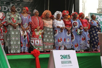 Wives of PDP governors take center stage at the mega rally