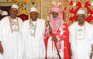 Adamu Mu'azu, President Jonathan, Emir Sanusi and VP Namadi Sambo