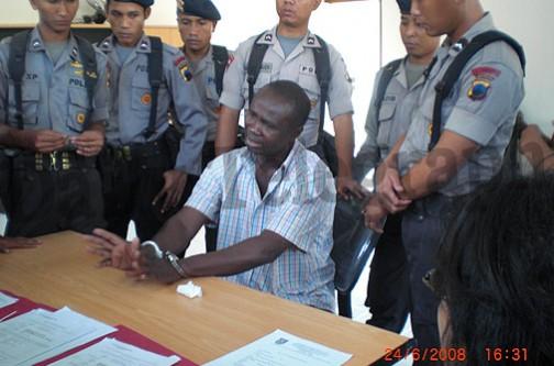 Hansen Antonious Nwaolisa, a Nigerian drug trafficker executed in Indonesia in 2008. Photo credit: daily telegraph on  via news.com.au