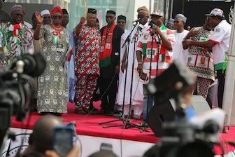 Some PDP Governors at the rally
