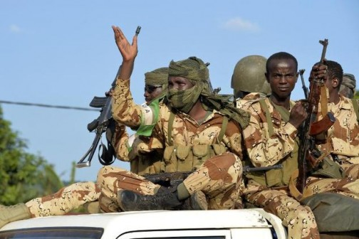 Chadian soldiers on duty