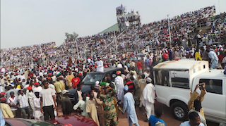 Another section of the crowd at Sani Abacha Stadium  in Kano