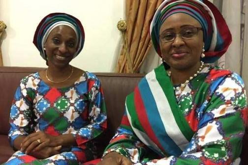 Mrs Oludolapo Osinbajo and Mrs.Buhari in Abeokuta