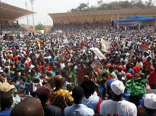 APC supporters roll out the carpet for Buhari
